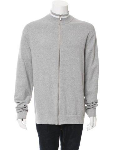 Michael Kors Rib Knit-Trimmed Mock Neck Sweater None