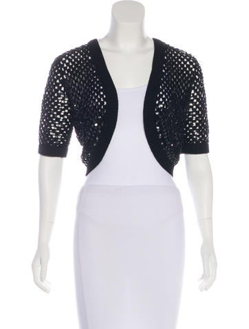 Michael Kors Cashmere Embellished Shrug None