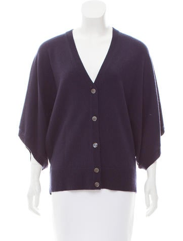 Michael Kors Button-Up Cashmere Cardigan None