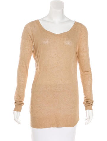 Michael Kors Linen Blend Bateau Neck Sweater None