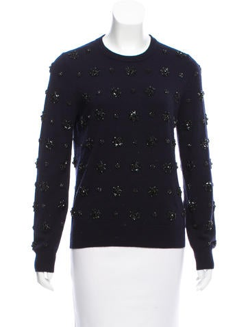 Michael Kors Cashmere Embellished Sweater None