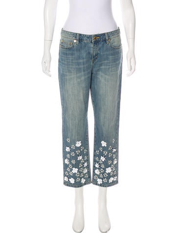Michael Kors Embellished Mid-Rise Jeans None