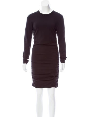 Michael Kors Ruched Sweater Dress None