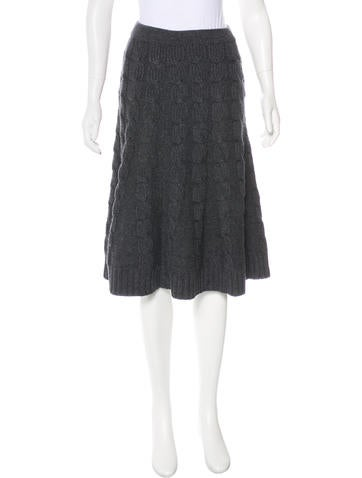 Michael Kors Merino Wool & Cashmere Cable Knit Skirt w/ Tags None