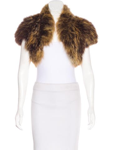 Michael Kors Fox Fur Shrug None