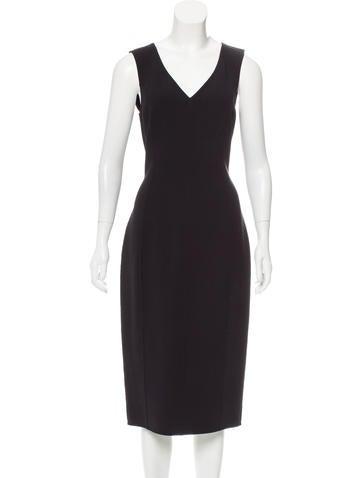 Michael Kors Virgin Wool Midi Dress w/ Tags None