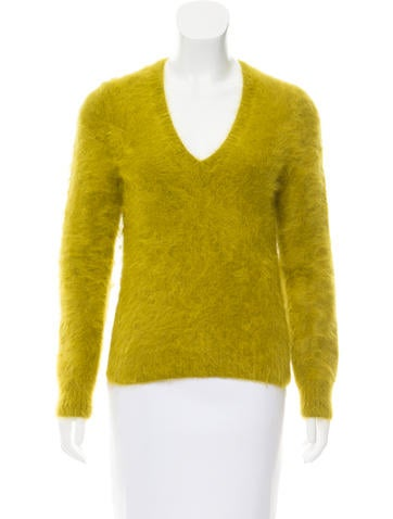 Michael Kors Angora V-Neck Sweater None