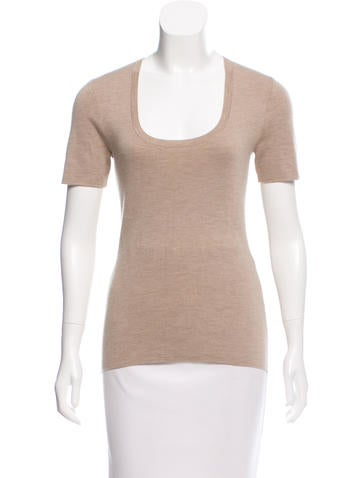Michael Kors Short Sleeve Cashmere Top w/ Tags None
