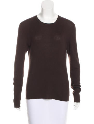 Michael Kors Rib Knit Cashmere Top None