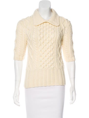 Michael Kors Merino Wool Cable Knit Sweater None
