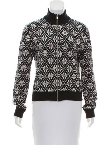 Michael Kors Cashmere Patterned Cardigan None