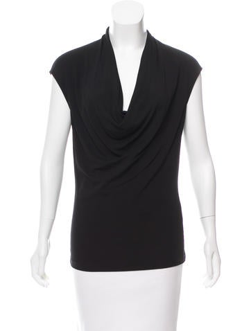 Michael Kors Sleeveless Cowl Neck Top None
