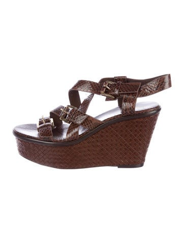 Michael Kors Woven Leather Sandals None