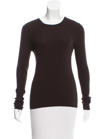 Michael Kors Long Sleeve Ribbed Sweater None