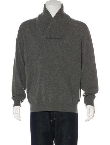 Michael Kors Wool-Blend Shawl Sweater None