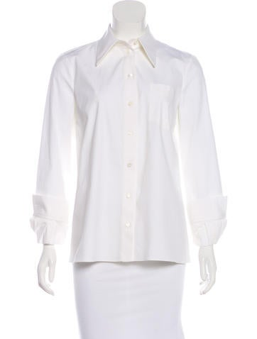 Michael Kors Long Sleeve Button-Up Top None