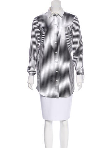 Michael Kors Stripe Button-Up Top None