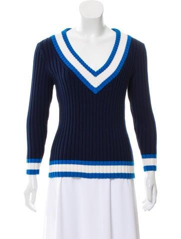 Michael Kors Rib Knit Silk-Blend Sweater None
