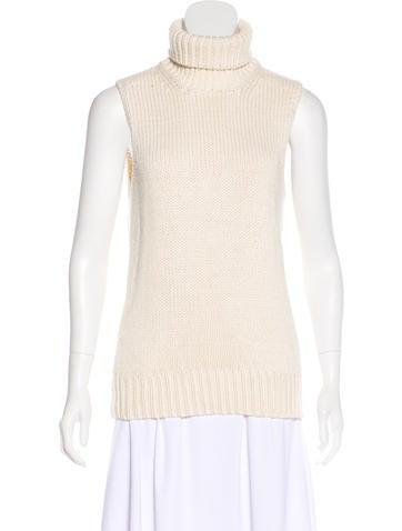 Michael Kors Sleeveless Rib Knit Top None