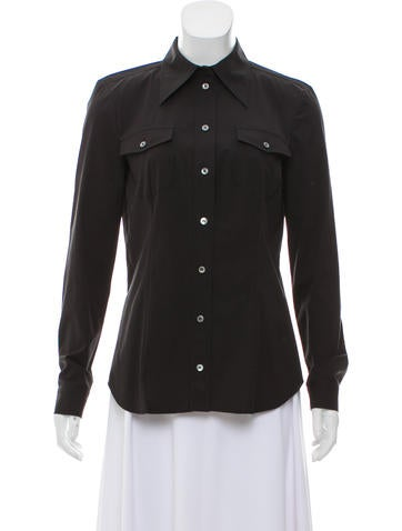 Michael Kors Button-Up Long Sleeve Top None