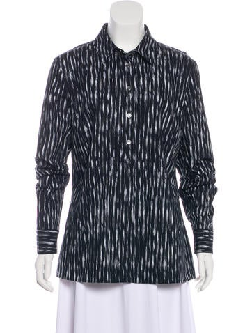 Michael Kors Printed Button-Up Top None