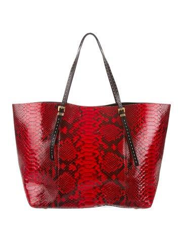 8dc3116ff6eb6a Michael Kors Jaryn Python Tote - Handbags - MIC67893 | The RealReal
