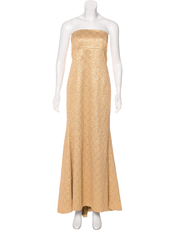 Michael Kors Metallic Sleeveless Evening Gown - Clothing - MIC68205 ...