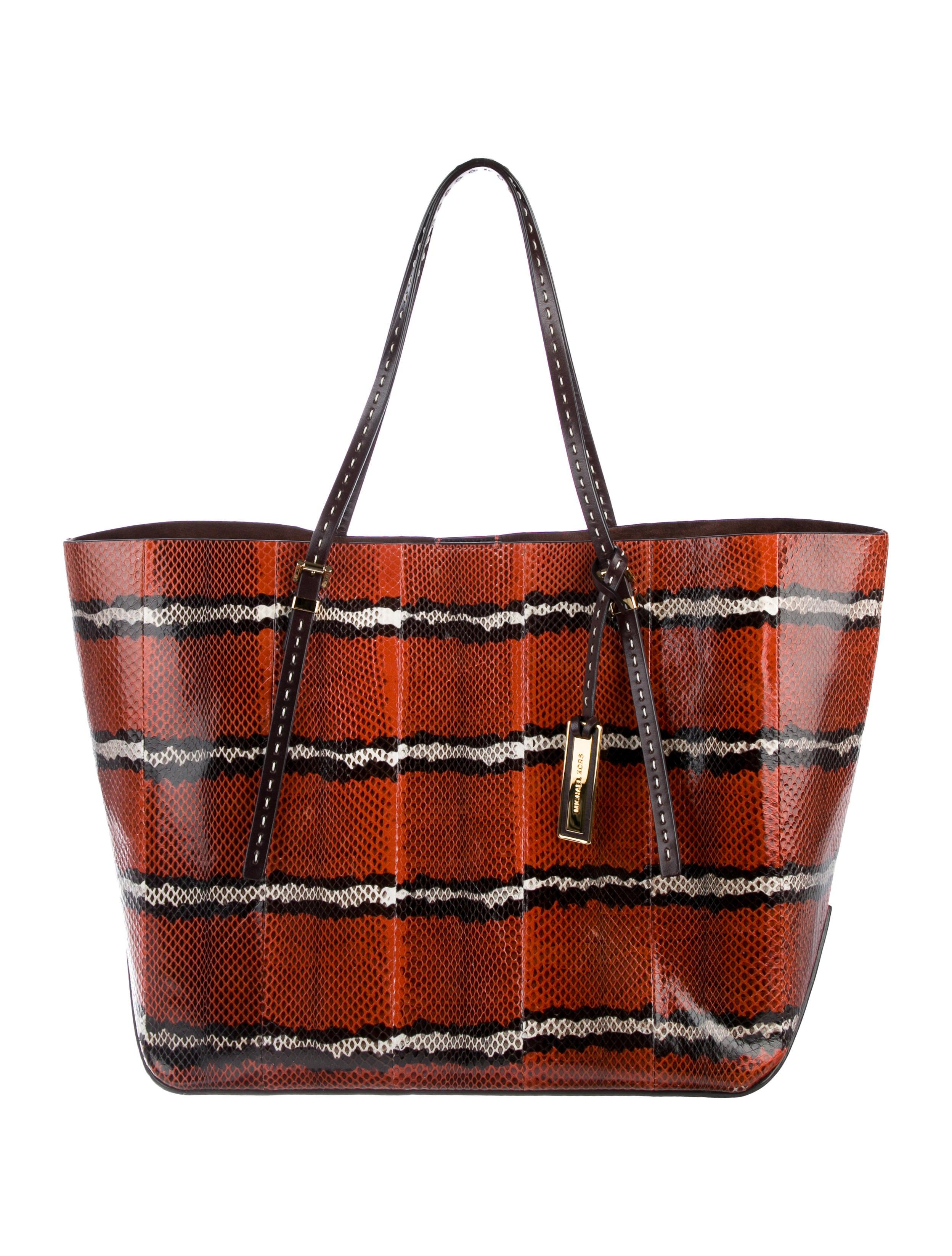 eda9aef429da61 Michael Kors Jaryn Python Tote - Handbags - MIC70367 | The RealReal
