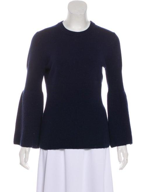 Michael Kors Knit Bell Sleeve Sweater Blue