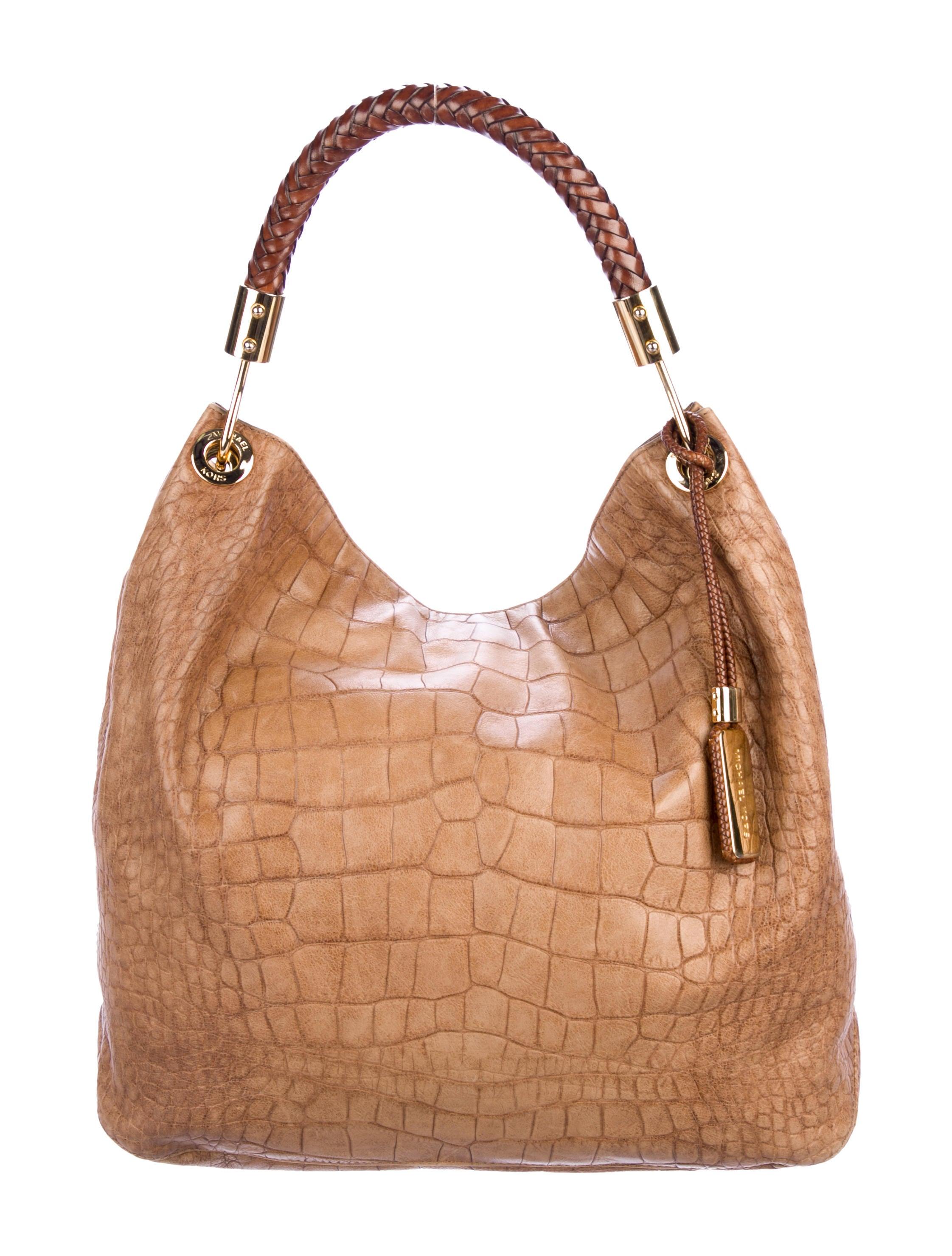 f8ed3f849b3a Michael Kors Embossed Skorpios Hobo - Handbags - MIC77114 | The RealReal