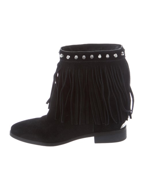 2592a4f4a65 Michael Kors Suede Fringe Ankle Boots - Shoes - MIC82568