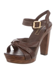 cb6a710ba674 Michael Kors. Leather Platform Sandals