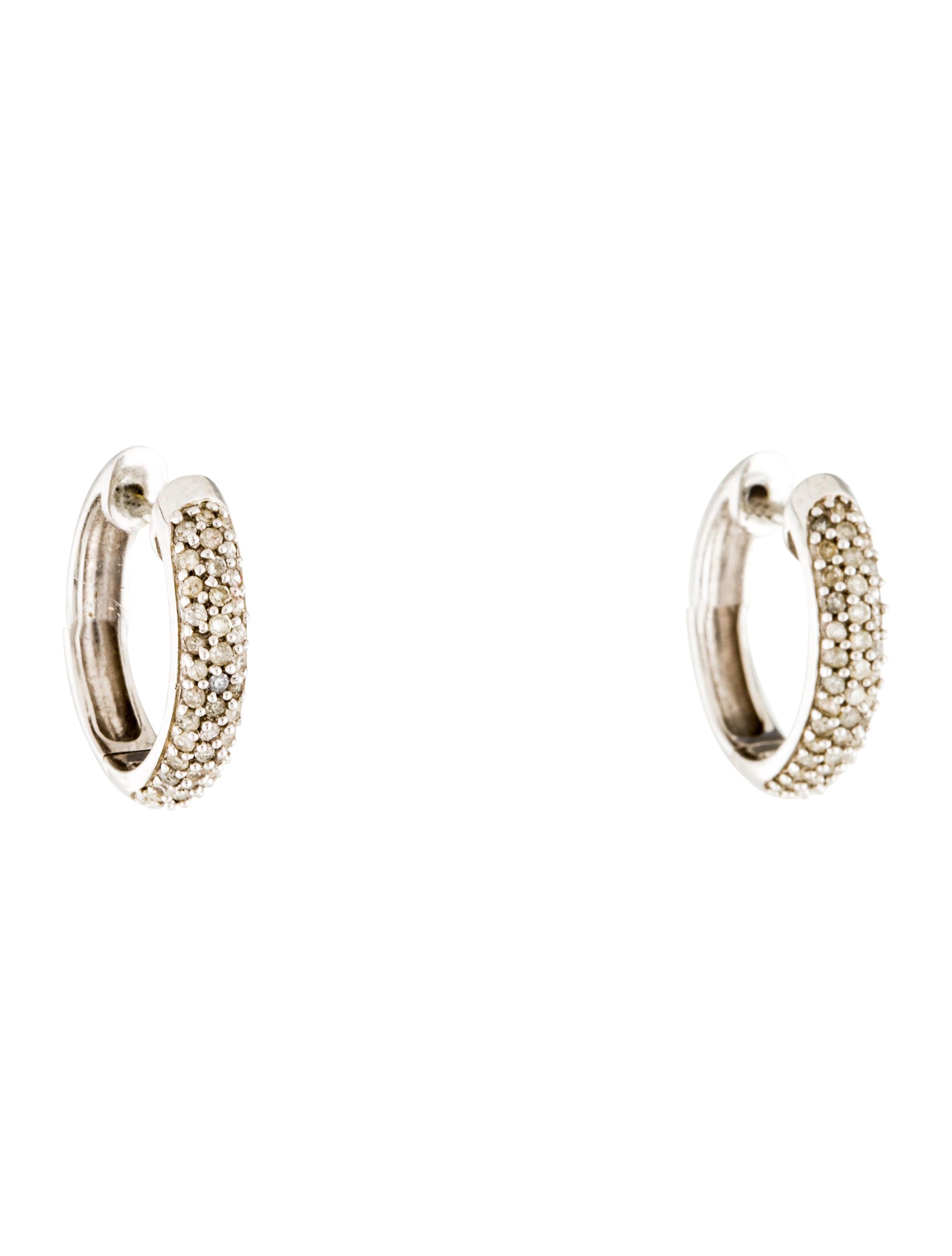 4ef985694 Michael Kors Brilliance Statement Pavé Crossover Hoop Earrings ...