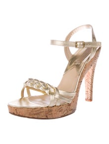 c3711beee0 Michael Kors. Leather Ankle Strap Sandals