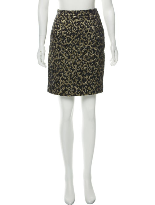 Michael Kors Metallic Cheetah Skirt Metallic