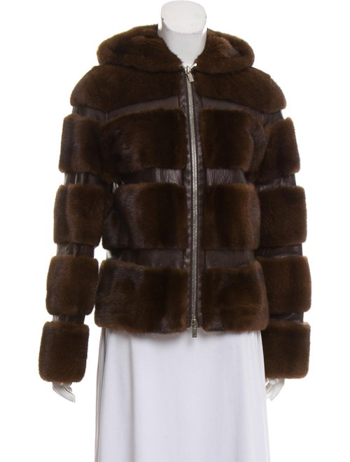 Michael Kors Mink Fur Hooded Jacket mink