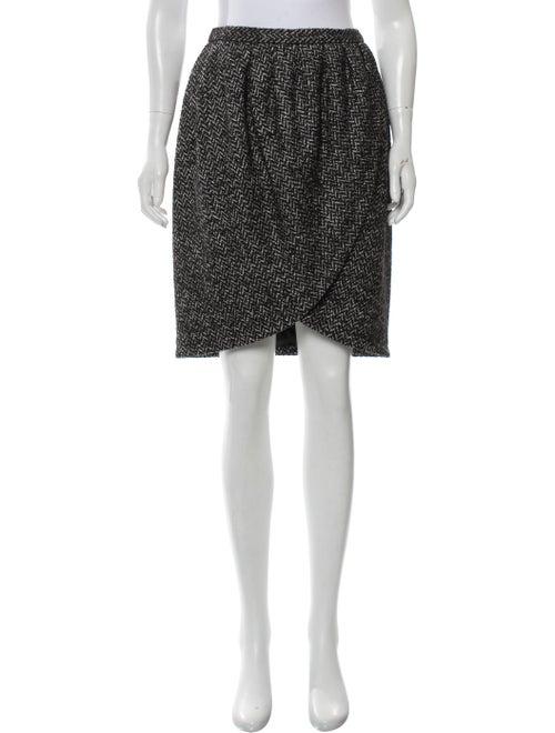 Michael Kors Herringbone Wool Tulip Skirt w/ Tags