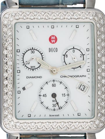 Deco Diamond Chronograph Watch