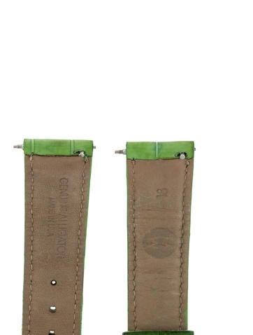 18mm Green Alligator Watch Strap