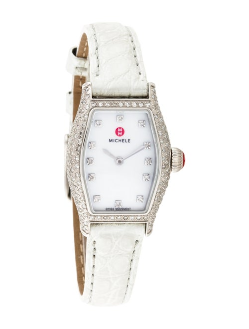 Michele Urban Coquette Watch white