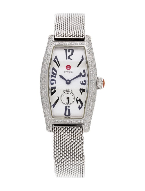 Michele Coquette Watch Silver