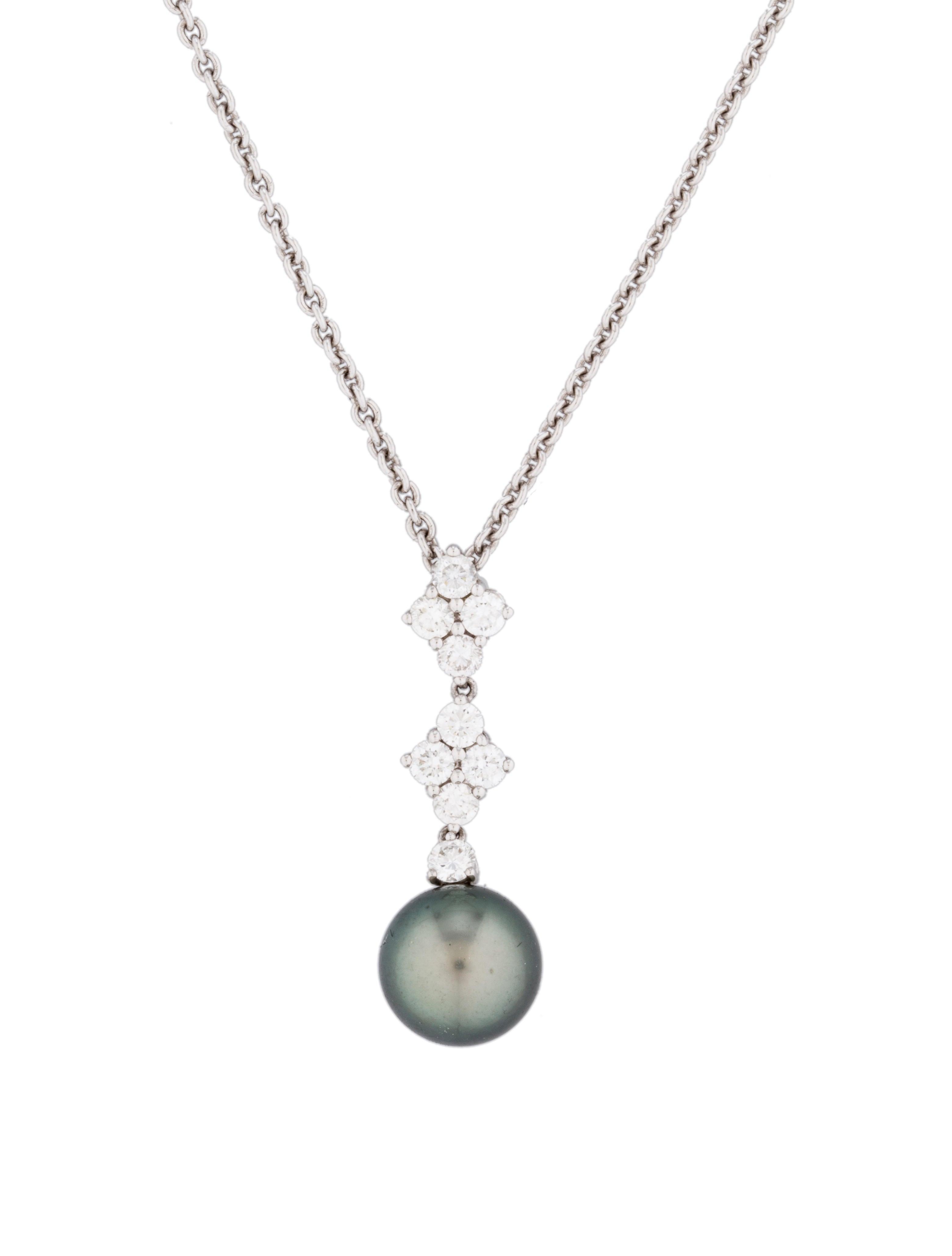 South Sea Pearl & Diamond Pendant Necklace