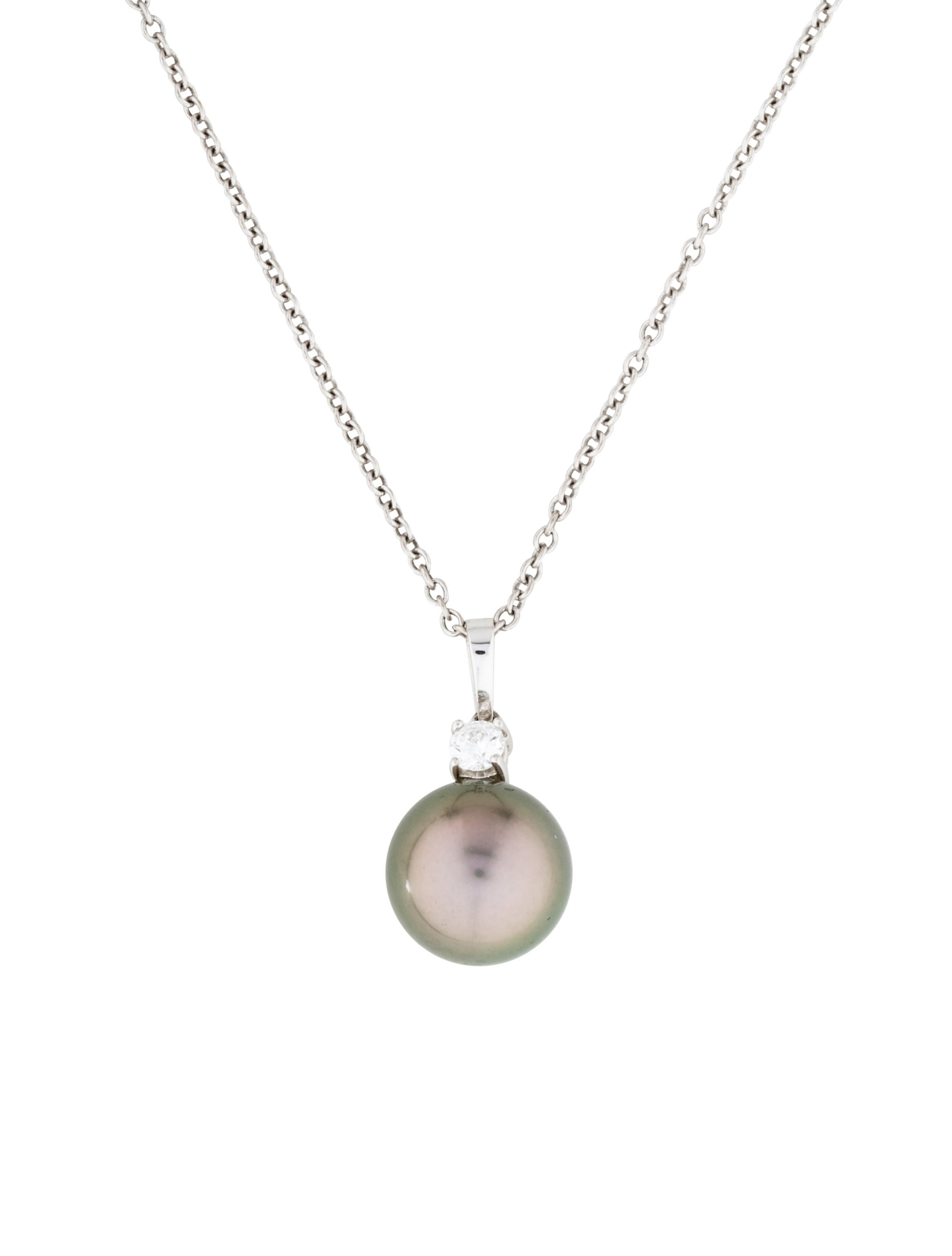 Mikimoto 18K Pearl & Diamond Pendant Necklace - Necklaces ...
