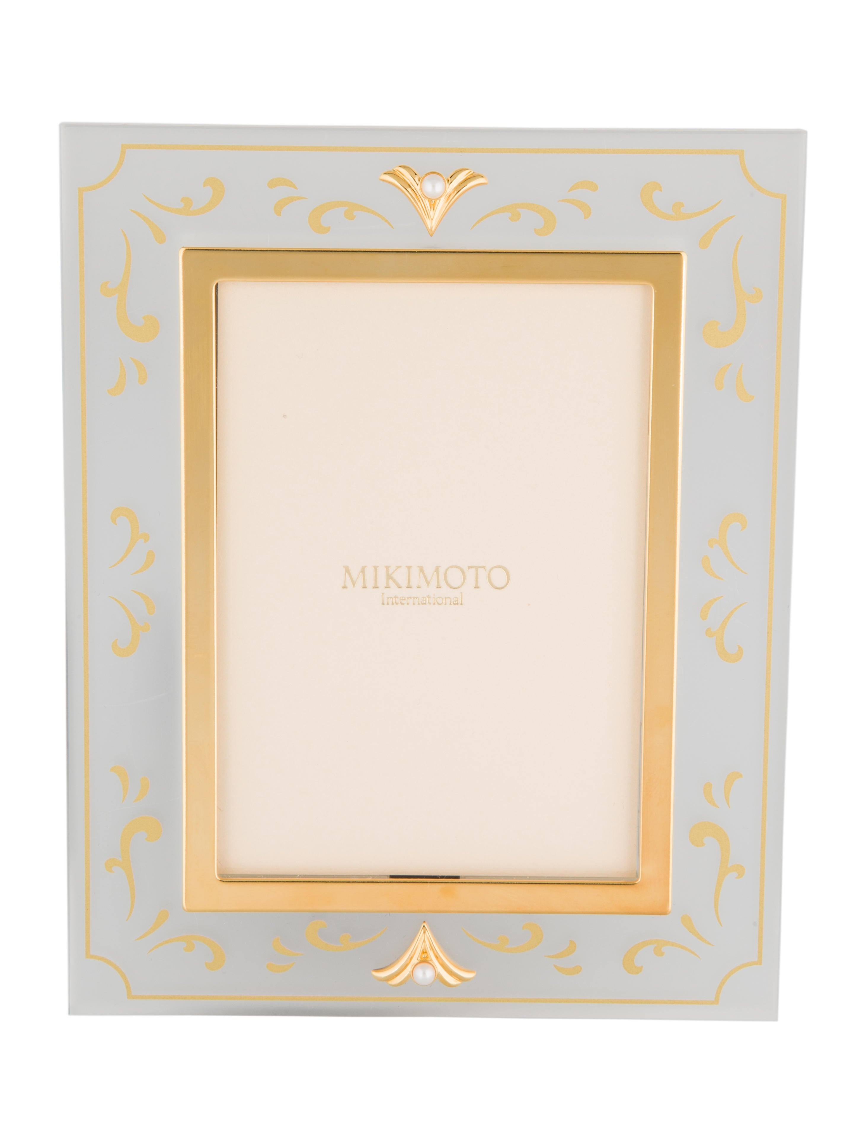 Mikimoto Pearl-Embellished Picture Frame - Decor & Accessories ...
