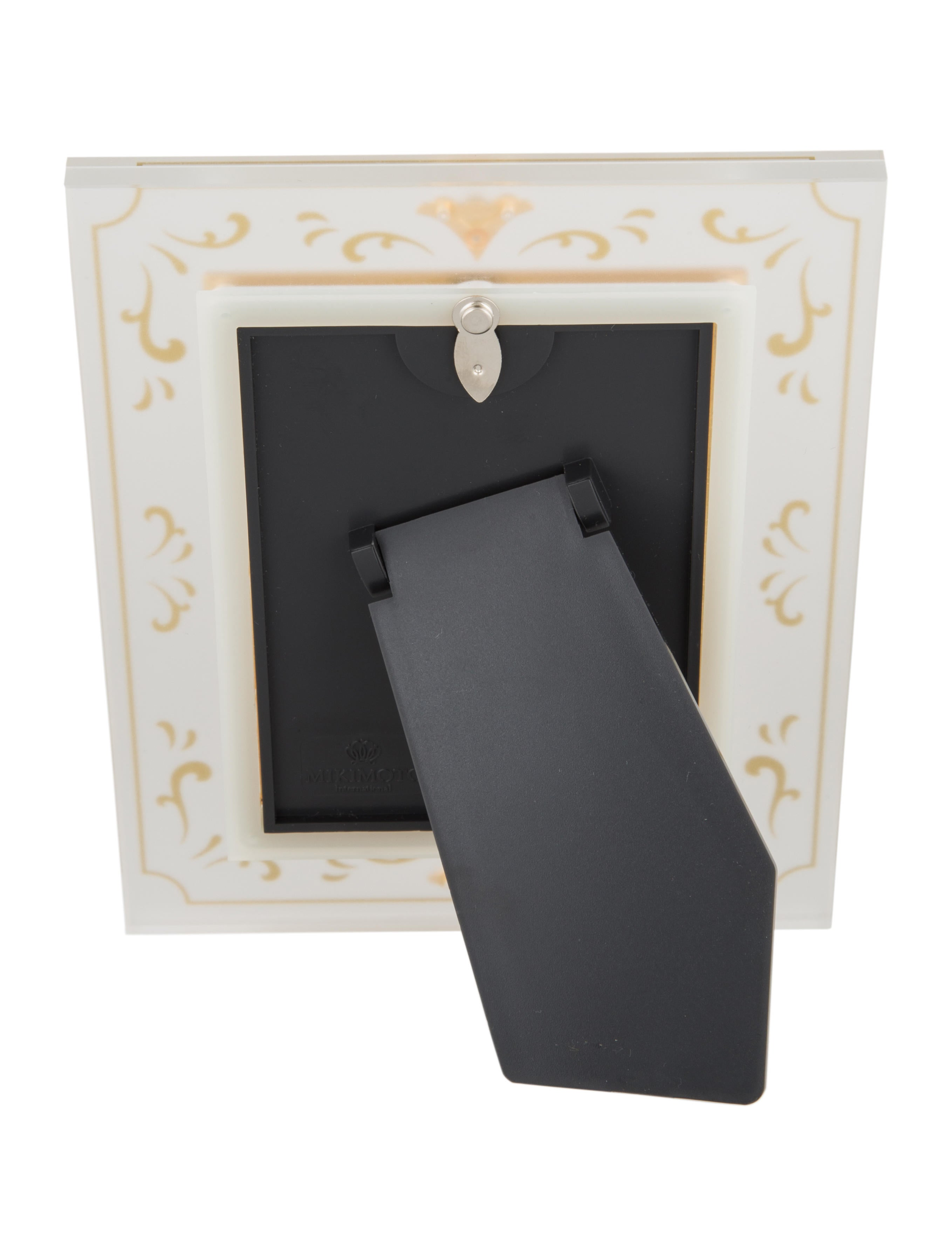 Mikimoto pearl embellished picture frame decor and for Embellished mirror frame