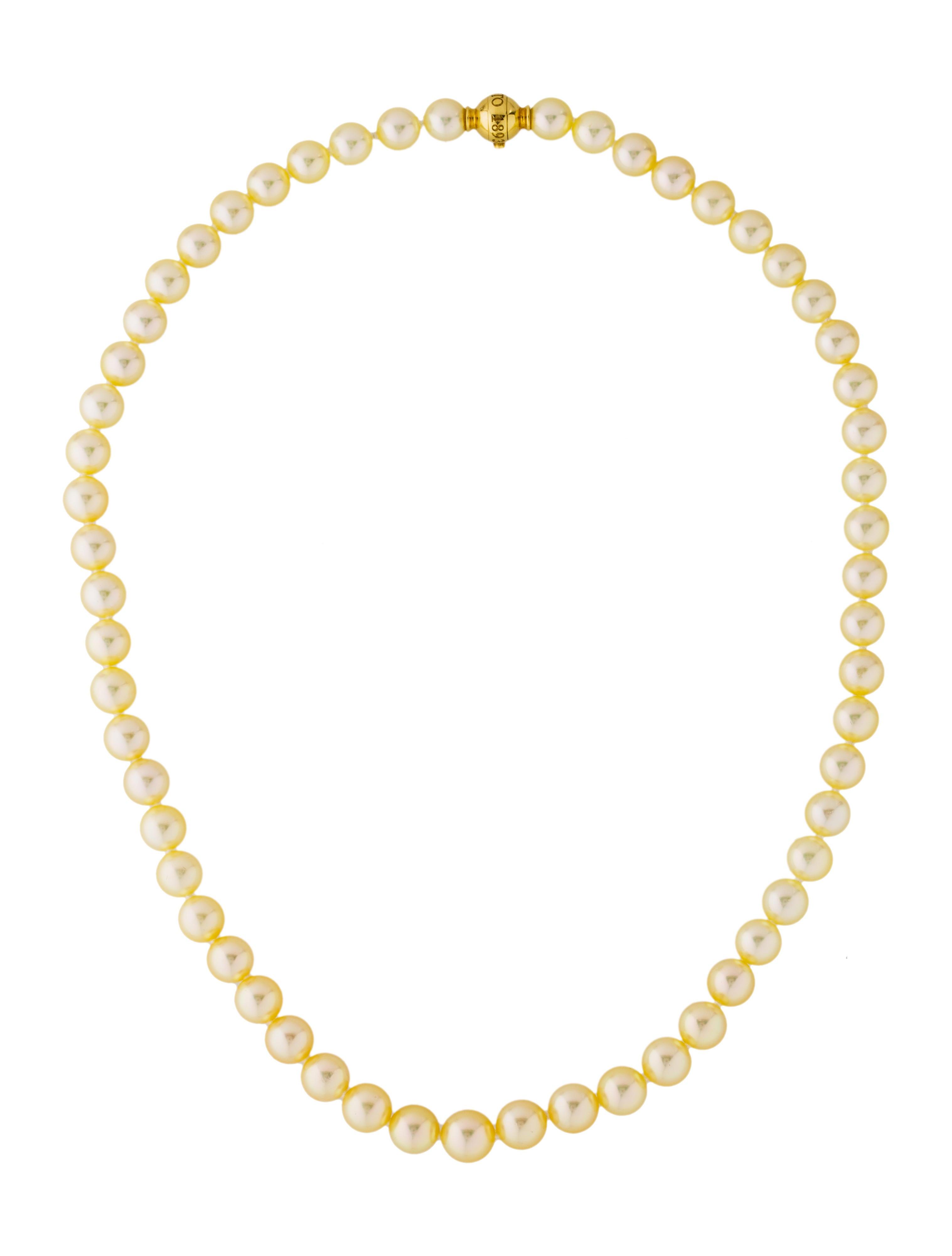 mikimoto 18k akoya cultured pearl graduated bead necklace