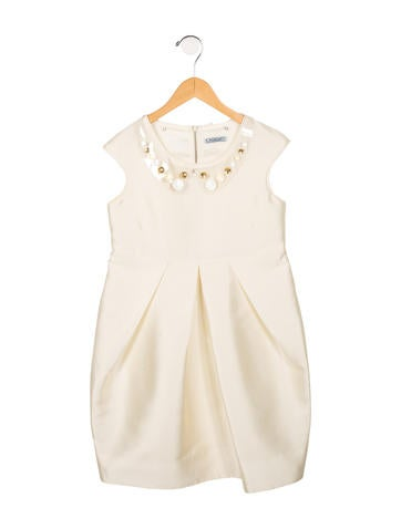 Mimi So Girls' Satin Embellished Dress w/ Tags None