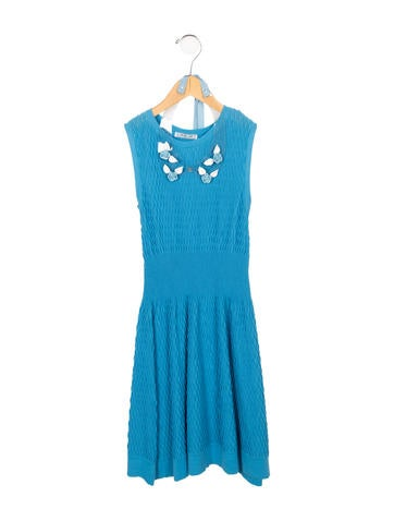 Mimi So Girls' Rib Knit Dress None