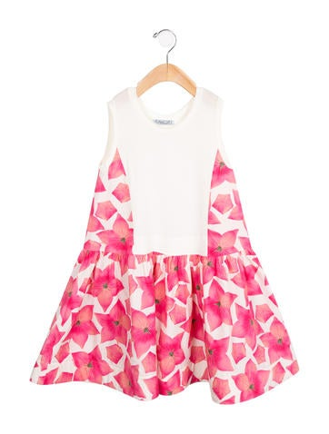 Mimi So Girls' Floral Print A-Line Dress None
