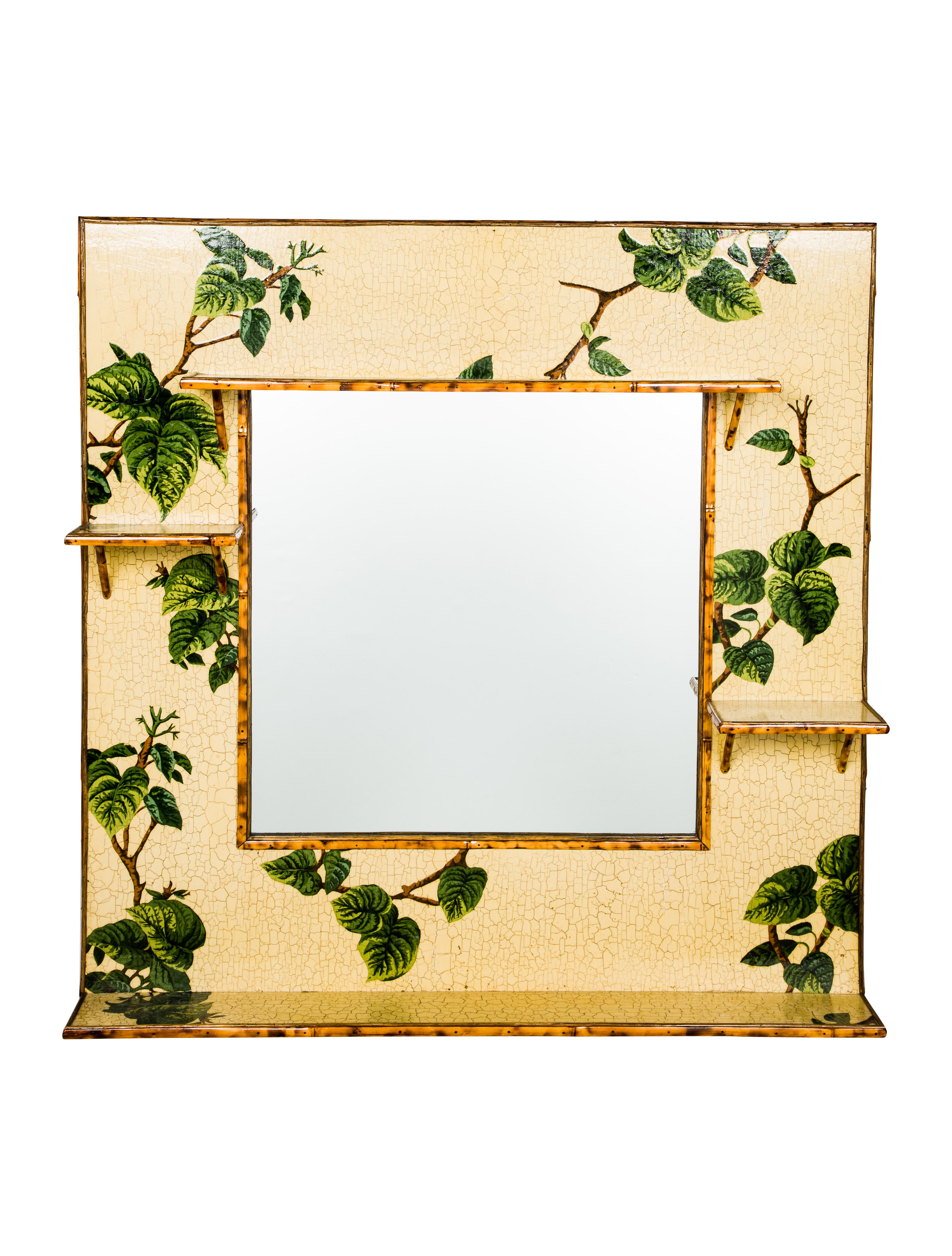 Bamboo Decorative Wall Mirror - Decor And Accessories - MIR20258 ...